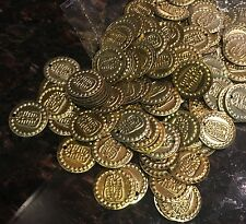 50 Egyptian Metal Coins Beads Belly Dance Gypsy Sewing King Tutankhamun