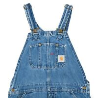 CARHARTT Denim Dungarees | 34W 34L | Vintage Coveralls Overalls Work Wear Jeans