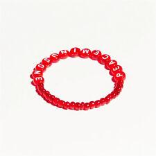 Kpop BIGBANG GD Peaceminusone Red Amber Bracelet PMO LUCKY Chain
