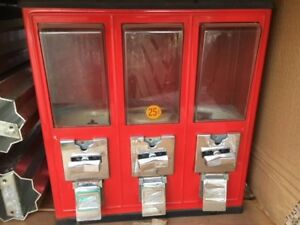 QTY 3 BARGAIN Northwestern AA S60 Gumball Candy Peanut Vending Machines FREE S/&H
