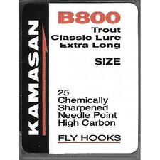 Kamasan B800 Trout Classic Lure Extra Long Size 1 needle point fly hooks