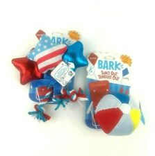 Bark Dog Play Toys Beach Ball, Star Spangles Tug Rope Thrashers M-XL Dogs