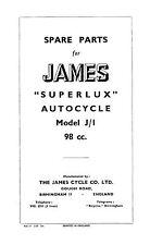 (0636) 1948-1954 James Superlux Autocycle parts book