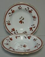 Spode DARLINGTON (ORANGE) Y6568 Rim Soup Bowls SET OF TWO More Items Available