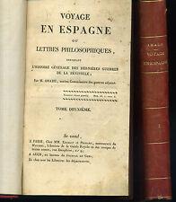 VOYAGE EN ESPAGNE ou LETTRES PHILOSOPHIQUES. AMADE. ED ENCELIN 1822-1823