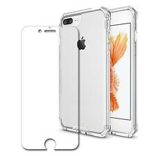 Clear Shockproof Box Bumper Case Cover+Glass Screen Protector For IPhone 7 Plus