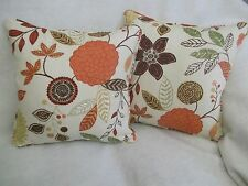 "ALINA BY HARLEQUIN 1 PAIR OF 18"" CUSHION COVERS - DOUBLE SIDED & PIPED"