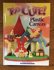 Plastic Canvas Too Cute Hardback Pattern Book - NICE Condition