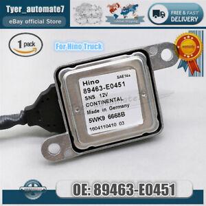 Pro 89463-E0451 Nox Sensor Nitrogen Oxide Sensor 5WK96668 SNS12V For Hino Truck