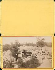 Ile Maurice, Souillac, la Roche qui pleure Vintage CDV albumen carte de visite