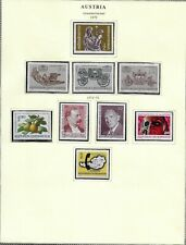 Austria 1972 year mint collection on 2 pages