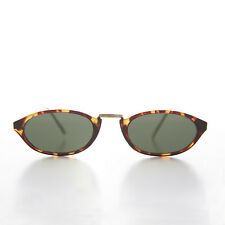 Brown Tortoiseshell Slim Rockabilly Punk 90s Sunglass - Alexis