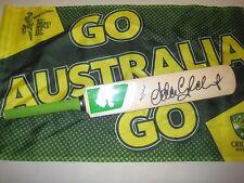 Adam Gilchrist (Australia) signed Green Puma Mini Bat  #2 + COA & Photo Proof