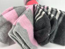 Women's Techwood Brand Striped MODAL ANGORA WOOL Socks - 2 Pair - $30 MSRP