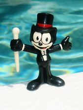 "Vintage 1990 Applause Felix the Cat Top Hat and Cane 2.5"" PVC Figure"