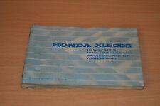 Bedienungsanleitung Fahrer Handbuch Owners Manual  HONDA XL500S   4 Sprachen
