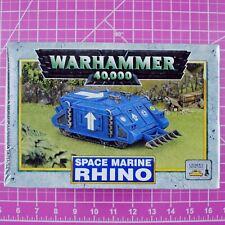 Warhammer 40K CLASSIC Space Marine Rhino Rogue Trader OOP Games Workshop Citadel
