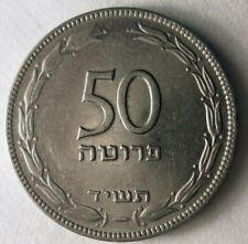 1954 Israël 50 Pruta Lot - Grand Vintage Pièce de Monnaie Bonne Affaire Bin #171