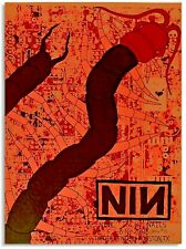 08 Nine Inch Nails Houston Silk Worm Asian Textile Concert Poster #/100 8/16 S/N