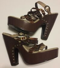 Colin Stuart Metallic Strappy Clog Sandals Women's Size 8M