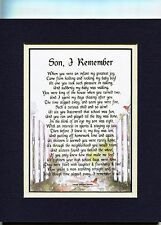 #53 A Gift Present Poem For A Son, 18th 21st Birthday