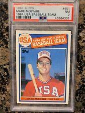 1985 TOPPS MARK MCGWIRE ROOKIE  CARD #401 1984 USA BASEBALL TEAM PSA 7 NEAR MINT