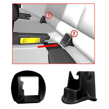 1 Pair 2pcs Plastic Car Baby Seat ISOFIX Latch Belt Connector Guide Groove Black