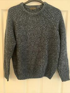 P.G.Field Cable Knit Blue Black Speckled Jumper size Small