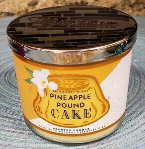 BATH & BODY WORKS PINEAPPLE POUND CAKE 3 WICK 14.5 OZ CANDLE NEW