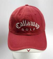 Callaway Golf Hat Cap Adjustable Fastener Back One Size Red