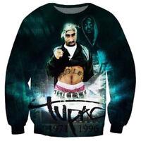 Fashion Women/Men 2Pac Tupac Hip Hop 3D Print Casual Sweatshirt Hoodie Pullover