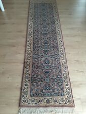 Amazing hand knotted 100% wool runner very soft 260cm x 70cm