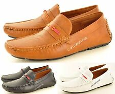 Men's Perforated Casual Strap Loafer Slip on Driving Shoes Avail. UK Size 6-11