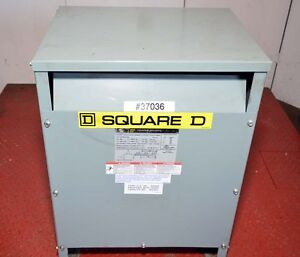 Square D 15 kva Transformer, 480/208/120 EE15T3H  (Inv.37036)