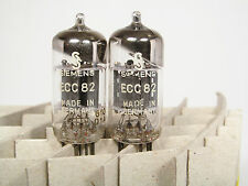 MATCHED PAIR NOS ecc82-12au7 - SIEMENS Made by Valvo-refusée Getter-Bulk Box