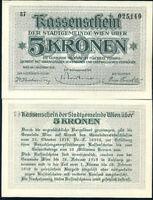 AUSTRIA 5 KRONEN 1918 P R53 UNC