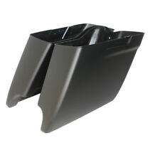 """Matt black 2014-2018 Harley HD 4.5"""" Stretched Extended Saddlebags Bottoms only"""