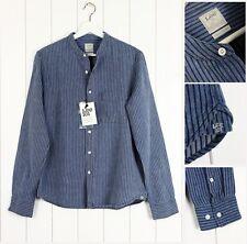 Camicie casual da uomo blu a righe