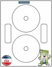 200 CD / DVD Laser and Ink Jet Labels - Neato Compatible Full Face!  100 Sheets