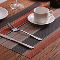 GI- Stripe Antiskid Heat Insulated Mat Dinning Table Bowl Dish Pad Placemat 45x3