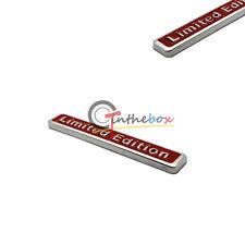 (1) 3D Metal Red LIMITED EDITION Car Auto Rear Lid Fender Trunk Sticker Emblem