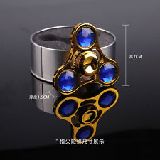 New Rhinestone Diamonds Metal Hand Fidget Finger Spinner Random color sent