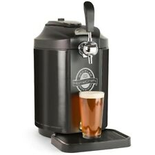 Homecraft Black Stainless 5l Freestanding Beverage Center Beer Growler Dispenser