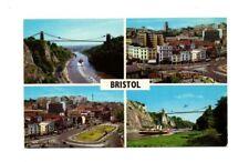 Bristol - Multiview Postcard Franked 1971