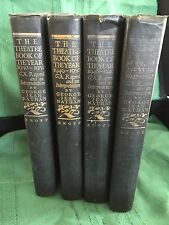 1st Edition lot of 4 Theatre Book of the Year 1947 - 1951 Designer Decor Props