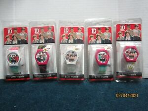 1D One Direction Assorted LCD Watches LOT OF FIVE (5)!