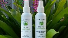 Two Unisex All Natural 100% Herbal Hair Tonics- Australian Made !