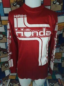 Vintage Honda Hipoint Racing Moto Jersey Long Sleeve Large