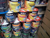 DULUX 1 LITRE WEATHERSHIELD EXTERIOR MIX COLORS PAINT