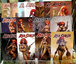 RED SONJA #11 - #24 Dynamite Comic LINSNER FULL RUN Hot Babe Sexy GGA 2019 FN NM